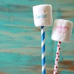 stamping on marshmallow pops - this makes me what to squeal!