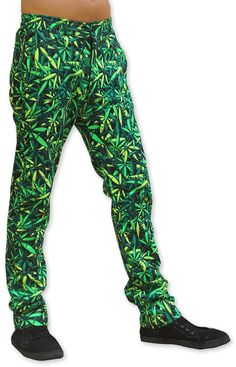Chillout Pants : Sea of Green Weed  Unisex chillout pants.  Chill in style !  Super comfy pants for those chill times. Can be worn at home or out and about.  Made from a soft fleece fabric with a semi-elasticated waist for a great fit.  UV active !  Button and zip front closing.  2 Side pockets & 2 back pockets.  Fully printed on 100% cotton fleece.  Artwork by Space Tribe Cotton Fleece, Fleece Fabric, Comfy Pants, Long Shorts, Weed, Chill, Harem Pants, Pockets, Unisex