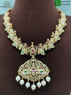 Diamond Necklaces, Diamond Jewellery, Gold Necklace, Jewellery Designs, Necklace Designs, Big Diamonds, Temple Jewellery, Jewelry, Gold Designs