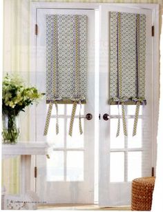 fabulous window treatments very creative for a french door