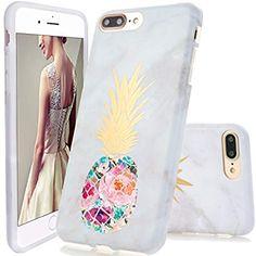 6dbcf1f699 DOUJIAZ iPhone 7 Plus Case,iPhone 8 Plus Case, Marble Design Clear Bumper  TPU Soft Case Rubber Silicone Skin Cover for iPhone 7 Plus 8 Plus - Flower  ...
