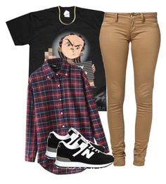 """Untitled #2149"" by dreakagotswagg ❤ liked on Polyvore featuring Monkee Genes, Chicnova Fashion and New Balance"