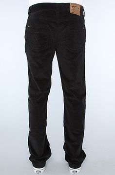 The Nickel Society Cord Pant in Black 28
