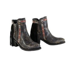 Corral Fringe Aztec Booties https://cowgirlkim.com/collections/whats-new/products/corral-fringe-aztec-booties