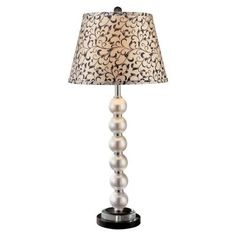 (CLICK IMAGE TWICE FOR UPDATED PRICING AND INFO) #home #homeimprovement #homedecor #lighting #lamps #lights #lightandfixture #tablelamps   see more table lamps at http://www.zbrands.com/Lamps-C40.aspx - Minka Ambience Lamps - Table Lamp in Pearl and Black