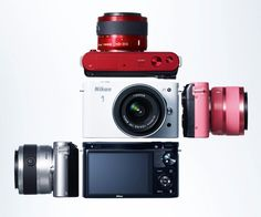 Nikon 1 is compact and lightweight and features interchangeable lens, Speedlight, GPS unit, grip, and cases. In addition to standard still-image shooting and movie recording, the system includes Motion Snapshot, a function that combines a still image with full-HD movie, and Smart Photo Selector, which automatically record the best shots in a series of buffered images.