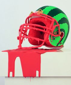 watermelon helmet all-star birthday party idea