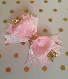 🎀 Handmade Hair Accessories, Ribbon Sculpture, Bows 🎀 by LaVieDeLily Pink Gold Party, Pink Gold Birthday, Pink And Gold, Rose Gold, Diy Hair Bows, Ribbon Hair Bows, Ribbon Flower, Fabric Flowers, Big Bows