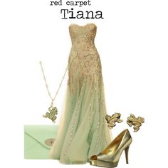 """""""red carpet Tiana"""" by charlizard on Polyvore Movie Outfits, Disney Outfits, Renaissance Dresses, Evening Outfits, Dress Images, Disney Fashion, Prom Dresses, Formal Dresses, Tiana"""