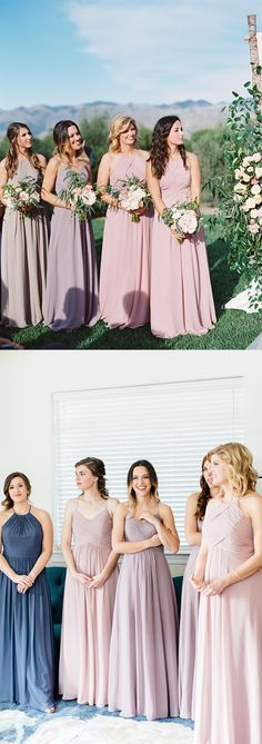In love with this romantic bridal party  Mix+match your besties with over 60 colors at Azazie.