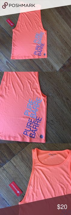 PURE BARRE S ORANGE TANK TOP WITH TAGS Very soft and light orange material PURE BARRE Tops Tank Tops