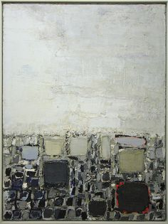 Nicolas de Staël, Les toits  Courtesy of GBoGBo     ...(Discover the latest #Art shows in     New York at https://www.artexperiencenyc.com