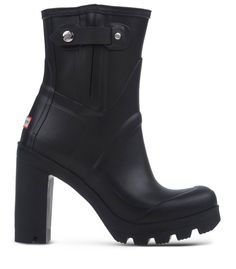 Hunter Black Heeled Rain Boot