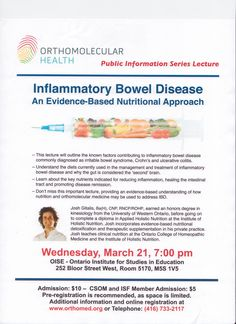 Public lecture on IBD in Toronto