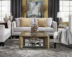 Gray And Gold Living Room Pauline Sofa From Z Gallery Living Room