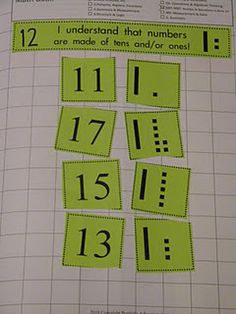 matching base 10 block representation to numeral