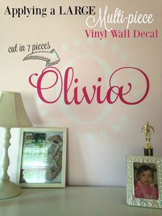 How to Hang a Large Vinyl Wall Decal (Silhouette Tutorial Part 2 of 2)