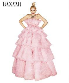 Harper's Bazaar Model: Gwen Stefani Photographer: Terry Richardson Styled by: Lori Goldstein Pretty in Pink Floppy hat gowns pink lips lipstick beauty new no doubt album single settle down