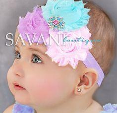 Diadema bebé lavanda rosa aqua Baby banda por SAVANIboutique