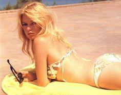 Brigitte Bardot on the beach at Saint Tropez