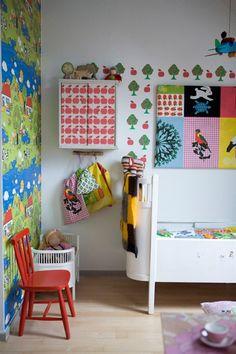 childrens-room-colourful-wall-decoration-752, IKEA living, børneværelse, indretning, interiør, boligcious, boligindretning