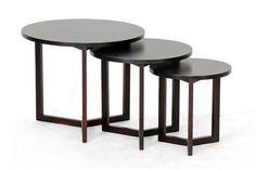 Fav.  Three legged tables. Hess Dark Brown Modern Nesting Table  Wholesale Interiors