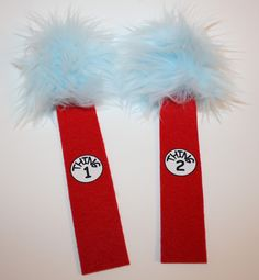 thing 1 and thing 2 bookmarks