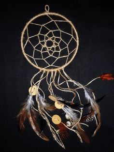 Traditional Native American dream catcher Dreamcatcher for men boys universal hanging decoration with feathers by SweetDreamsSparkle on Etsy