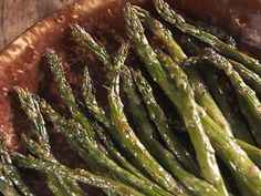 Asparagus with Creamy Tarragon Vinaigrette. EXCELLENT! Dressing was great on asp, potato, and lamb. Made w/ spicy brown mustard (on hand) and had a nice spritz to it. Cook thin asp less and maybe leave off some oil.