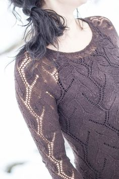Cobweb weight lace sweater!