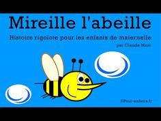 Mireille l'abeille. Histoire pour enfants de maternelle. - YouTube