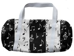 0000000P/Music Notes Striped Duffle Bag
