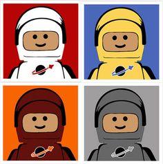 Pop art for the Lego loving kids