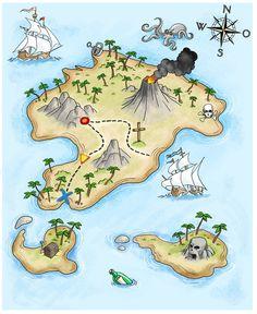 Schatzkarte | by Matthias Pflügner Treasure Maps For Kids, Pirate Treasure Maps, Pirate Maps, Pirate Theme, Boston Activities, Pirate Activities, Map Painting, Cute Love Stories, Fantasy Map
