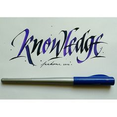 Knowledge #frakone #calligraphy #calligraffiti #handwriting #lettering #italic #italichand #hxcalligraphy | Flickr - Photo Sharing!