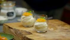James Martin make a delicious clementine syllabub dessert for the festive season on Home Comforts at Christmas. The ingredients are: 250g mascarpone, 1 heaped tbsp icing sugar, sifted, 400ml double cream, 2 clementines, 1 juiced, 1 sliced, 200g ready-made orange or passion fruit curd and 2 sprigs fresh mint.  Related PostsJames Martin apple and potato rosti recipe on Home Comforts at ChristmasJames Martin Scottish scones with strawberry jam recipe on Saturday KitchenJames Martin…