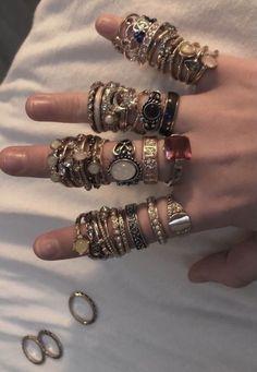 Grunge Jewelry, Funky Jewelry, Hippie Jewelry, Cute Jewelry, Jewelry Rings, Jewelry Accessories, Jewlery, Hippie Rings, Boho Rings