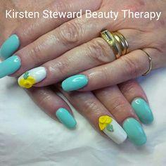 3d acrylic daffodils nail art Artistic Colour Gloss