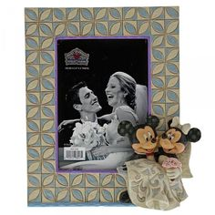 Disney Traditions Disney Traditions Mickey & Minnie Wedding Frame in One Colour Wedding Picture Frames, Wedding Frames, Photo Picture Frames, Wedding Pictures, Mickey Mouse And Friends, Mickey Minnie Mouse, Disney Mickey, Walt Disney, Mickey Mouse Figurines