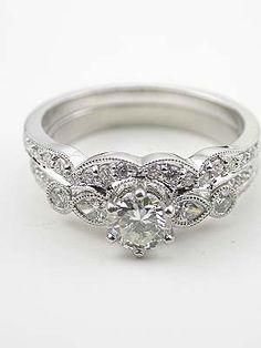 antique millgrain engagement ring