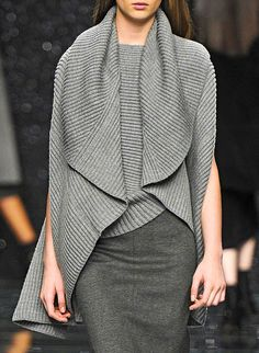 Anteprima FW 2012 | Keep the Glamour | bestaybeautiful gray sweater outfit #minimalist #fashion #style