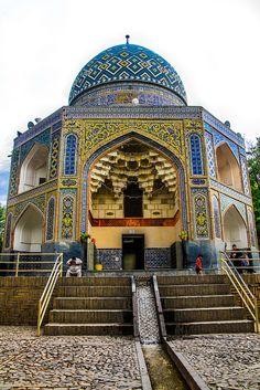 Nishapur, Iran. A colorful mausoleum.