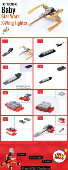 World Lego Challenge is a website full of lego Ideas and Instructions to Boost your childs intelligence and creativity Lego Challenge, Micro Lego, Lego Ideas, Fun Ideas, Free Lego, Star Wars Decor, Star Wars Baby, Lego Projects, Lego Instructions
