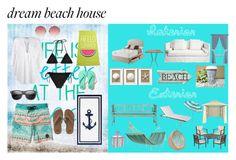 """Dream Beach House"" by xo-angelcakes-xo on Polyvore featuring interior, interiors, interior design, home, home decor, interior decorating, Skargaarden, Caribbean Joe, Rice and Harbor House"