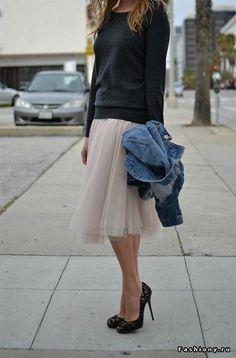 Красивая юбка с тюлем