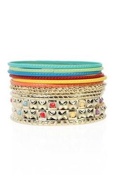 Deb Shops #color #bangles set