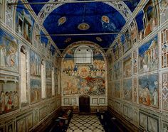 Giotto painted frescoes in the Arena Chapel in Padua, Italy, about Medieval Art, Renaissance Art, Siena, Padua Italy, Art History Lessons, Giorgio Vasari, Late Middle Ages, Italian Painters, Italian Art