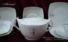 Porcelana  Serwis obiadowy Akcent dla 12 os. / 42 el. D.E635 cena 899 zł