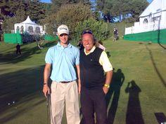 Martin Kaymer in Marbella mit Golflehrer Achim Schuette. www.GolfXXL.com