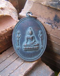 THAI COPPER COIN BUDDHISM BUDDHA TRI HOLY LUCKY AMULET MYSTICISM PENDANTS